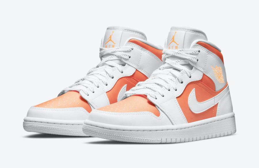 Air Jordan 1 Mid Special Edition blanche et orange (6)