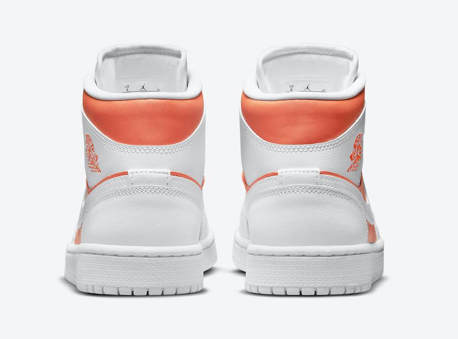 Air Jordan 1 Mid Special Edition blanche et orange (7)