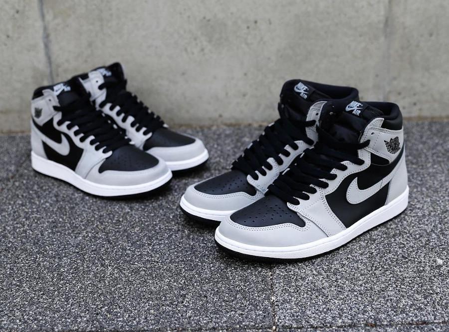 Air Jordan 1 montante grise et noire 2021 (1)