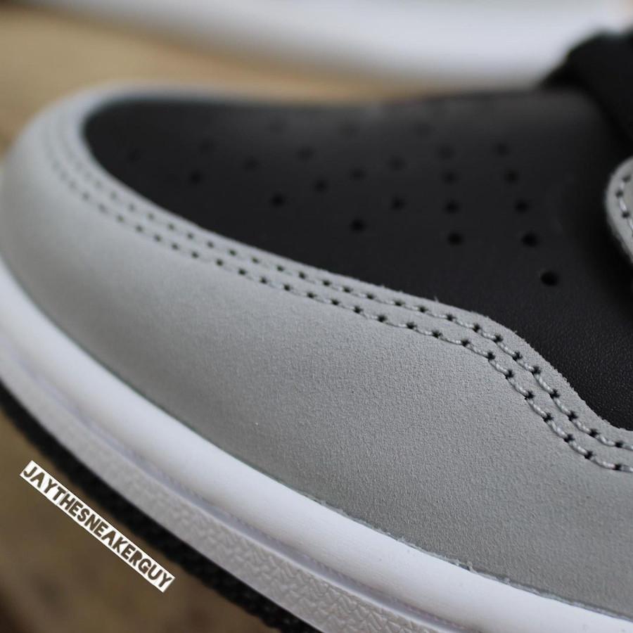 Air Jordan 1 montante grise et noire 2021 (4)