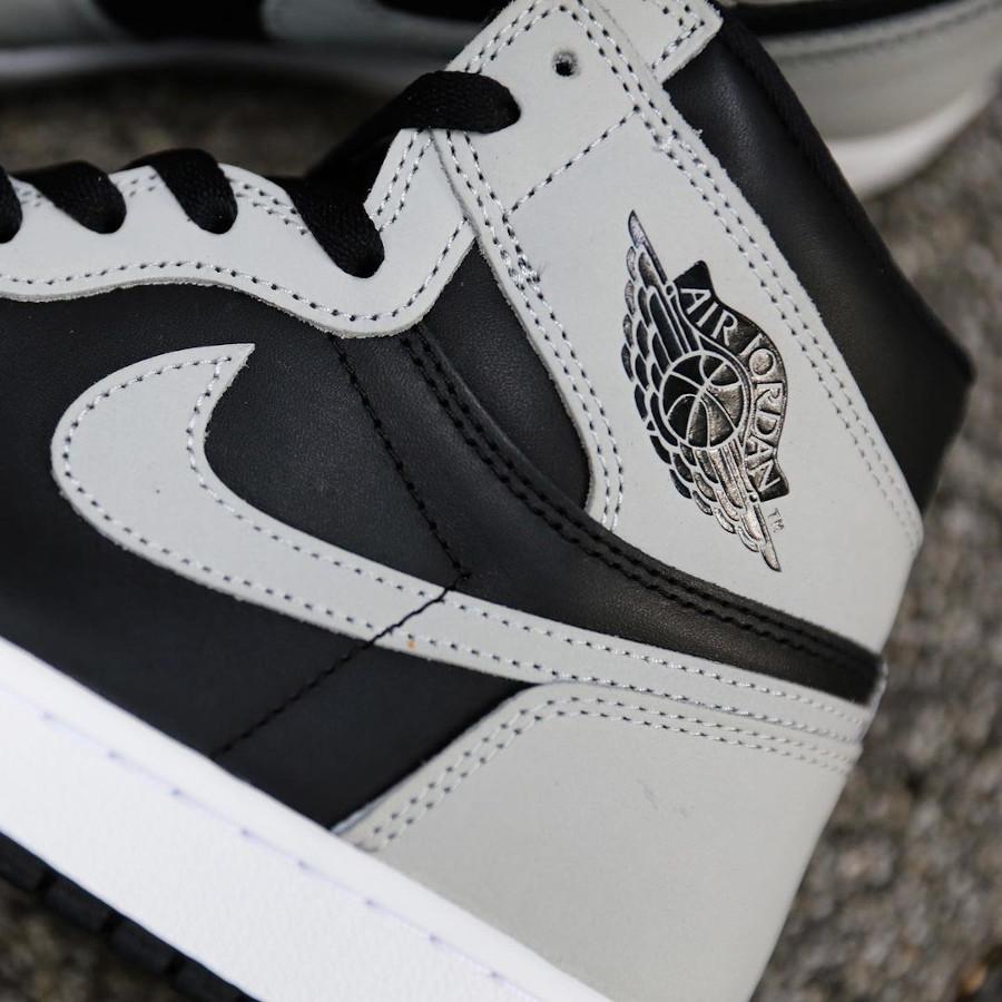 Air Jordan 1 montante grise et noire 2021 (5)