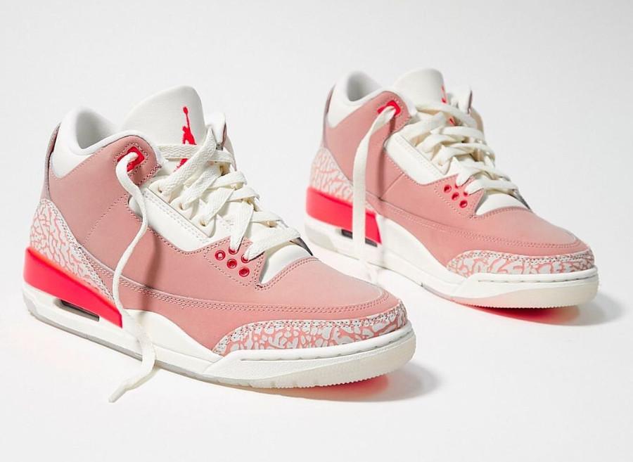 Air Jordan III femme en nubuck rose (1)