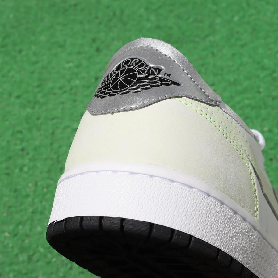 Air Jordan One blanche et vert pâle 2021 (3)