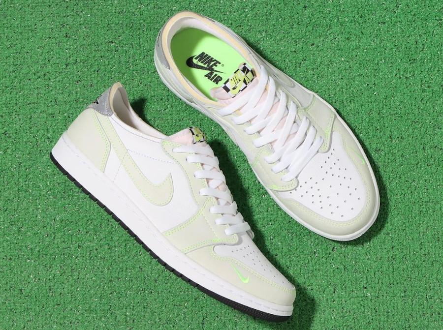 Air Jordan One blanche et vert pâle 2021 (4)