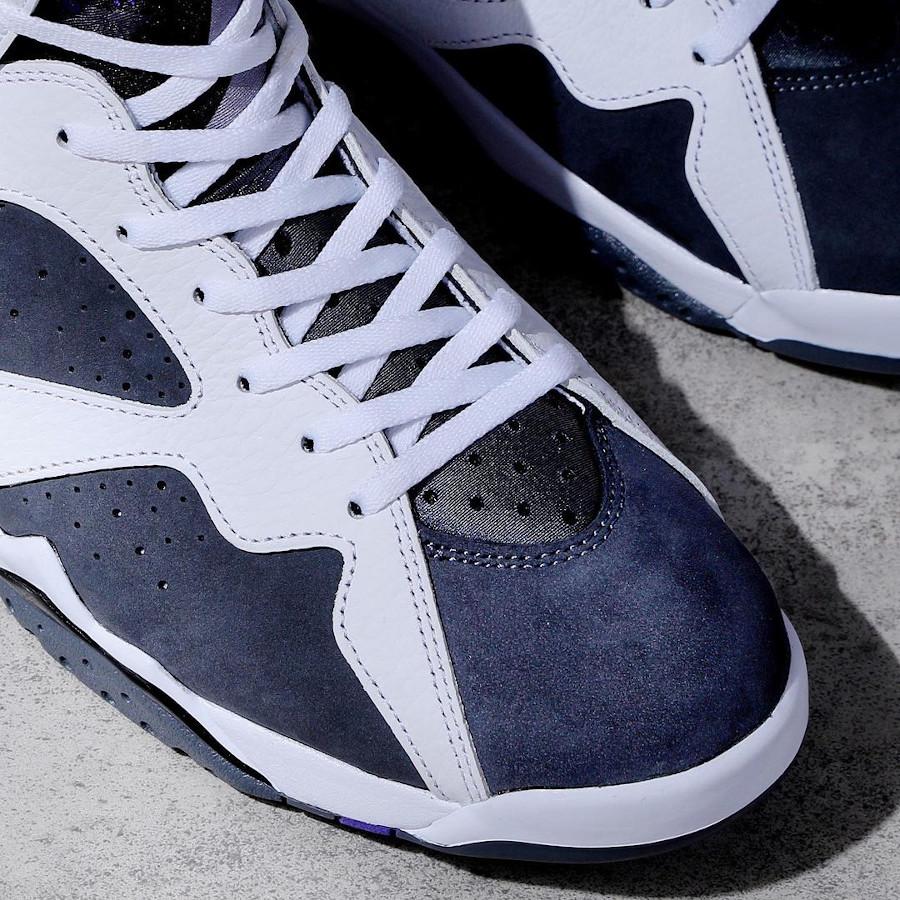 Air Jordan VII blanche grise et violette (5)