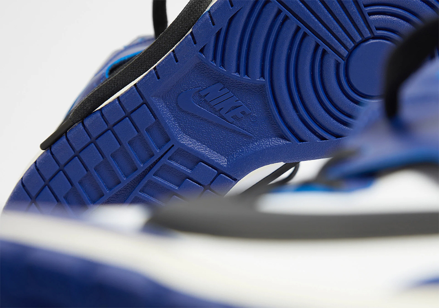 Ambush x Nike Dunk High blanche bleue et noire (5)