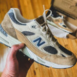 New Balance 991 'Cappuccino' Sand Navy (made in England)