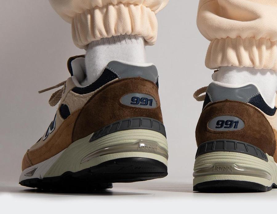 New Balance 991 beige et marron café (4)