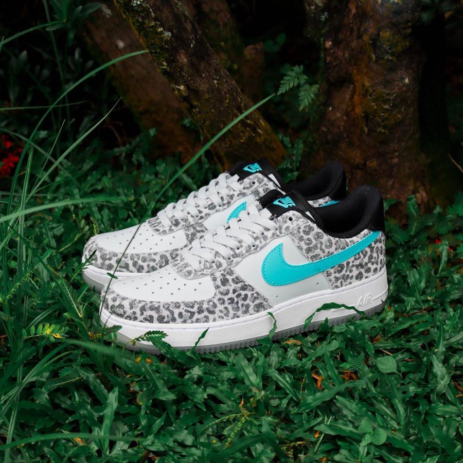 Nike AF1 '07 PRM Leopard Blue Fury Animal DJ6192-001