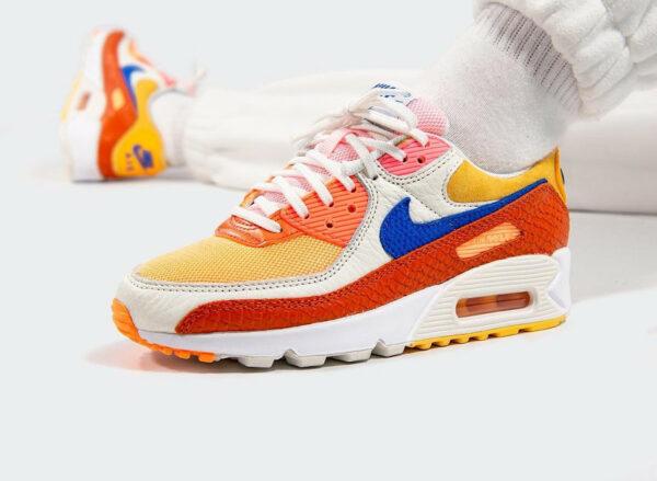 Nike AM90 PRM Snakeskin Campfire Orange DJ8517 800