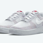 Nike Air Force 1 Crater Flyknit 'Wolf Grey Pure Platinum Gym Red'