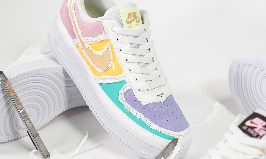Nike Air Force 1 Low déchirable aux couleurs douces (3)