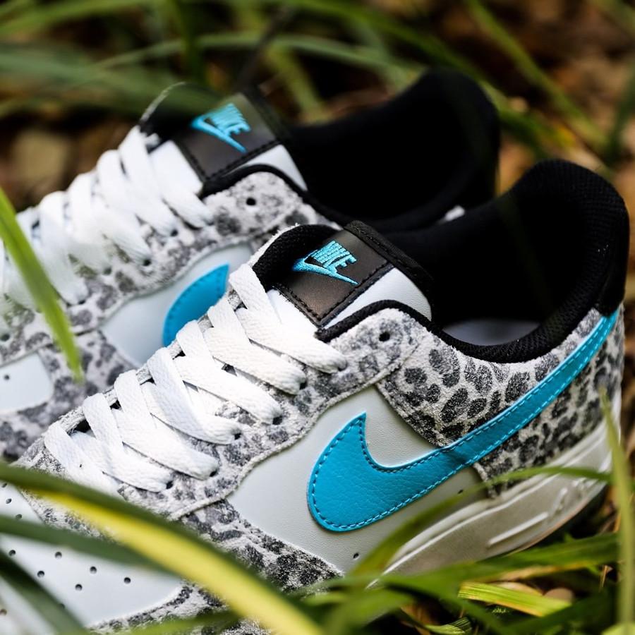 Nike Air Force 1 Premium bleu jade (imprimé félin) (3)