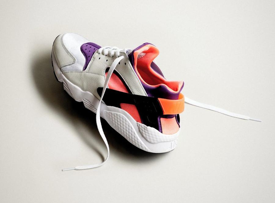 Nike Air Huarache Run blanche rose et violet (30ème anniversaire) (2)