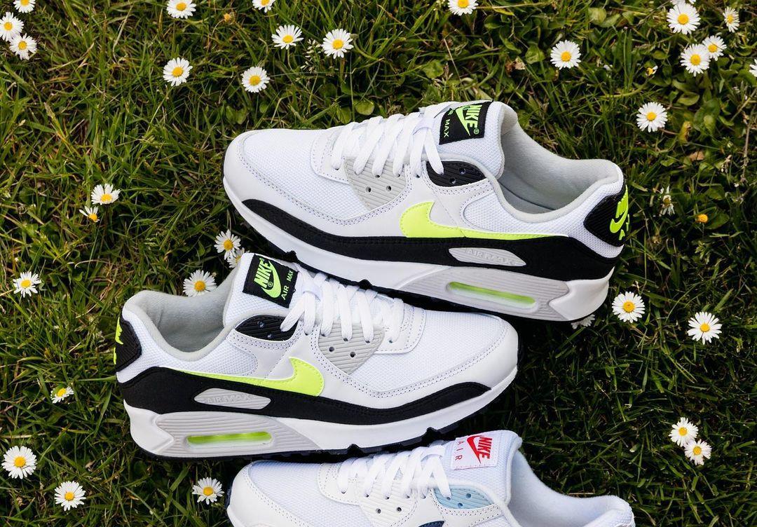 Nike Air Max III blanche noire et jaune citron (2)