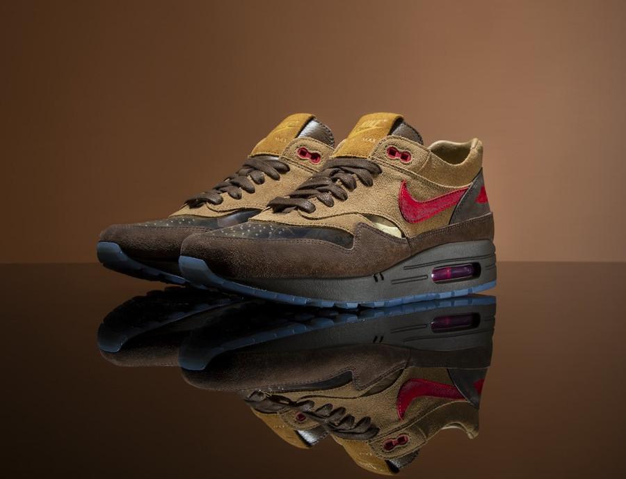 Nike Air Max One Brown Rocky Tan Medium Red (1-1)