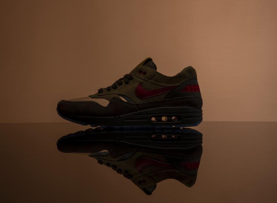 Nike Air Max One Brown Rocky Tan Medium Red (1)