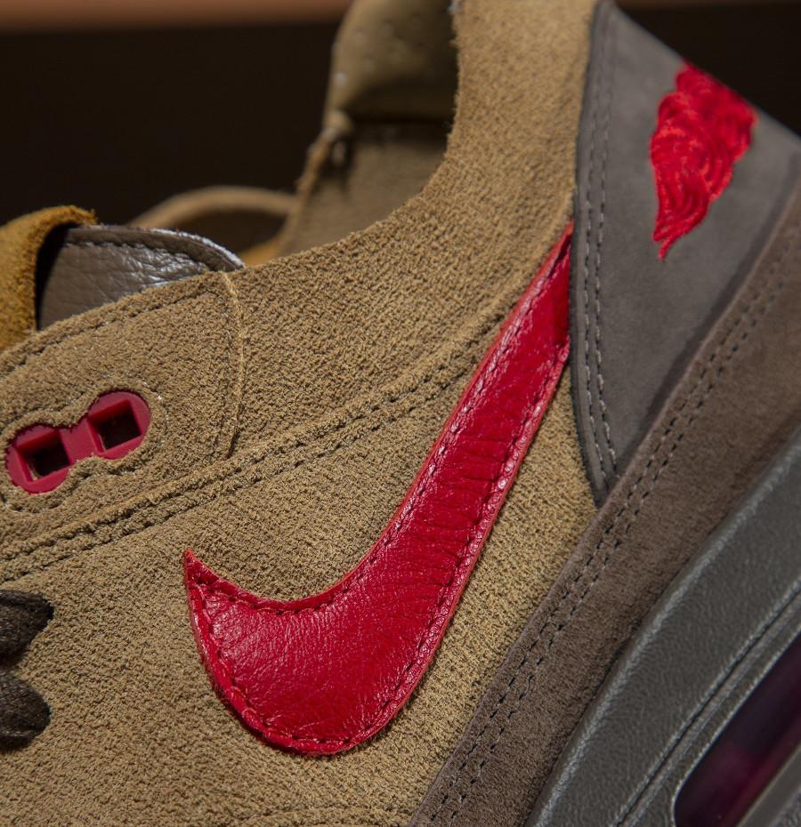 Nike Air Max One Brown Rocky Tan Medium Red (2)