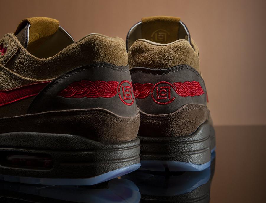 Nike Air Max One Brown Rocky Tan Medium Red (3)