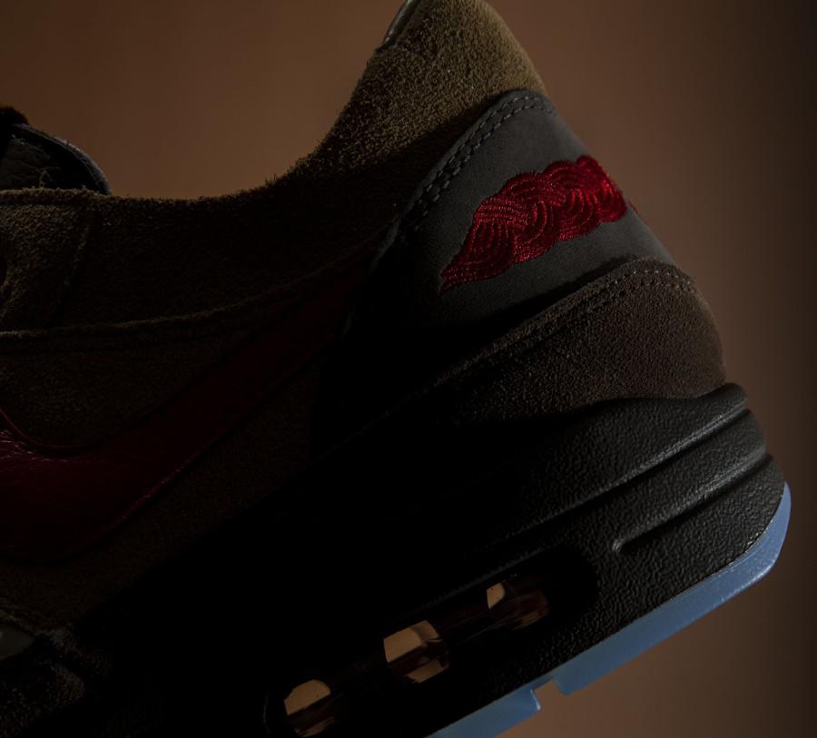 Nike Air Max One Brown Rocky Tan Medium Red (4)