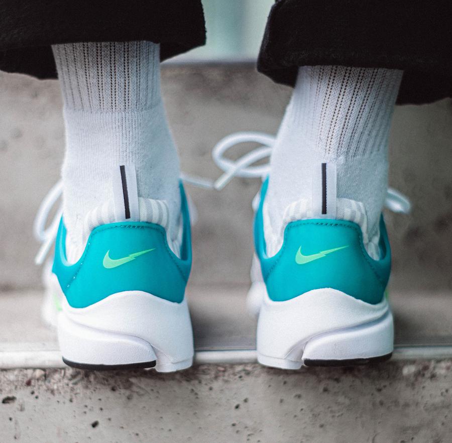 Nike Air Presto blanche bleu turquoise (3)