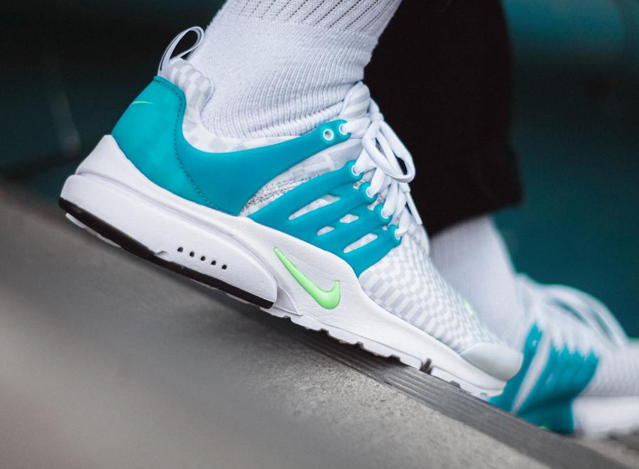 Nike Air Presto blanche bleu turquoise (5)