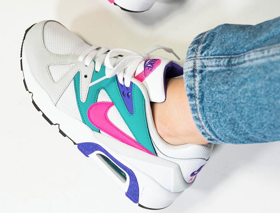 Nike Air Structure OG femme blanche rose et turquoise (2)