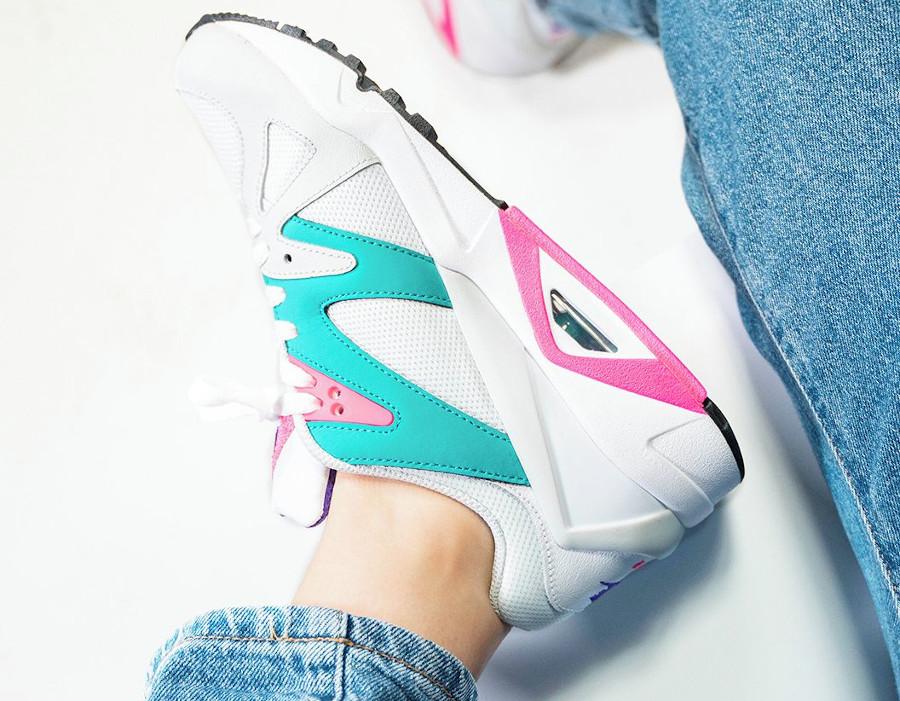 Nike Air Structure OG femme blanche rose et turquoise (3)
