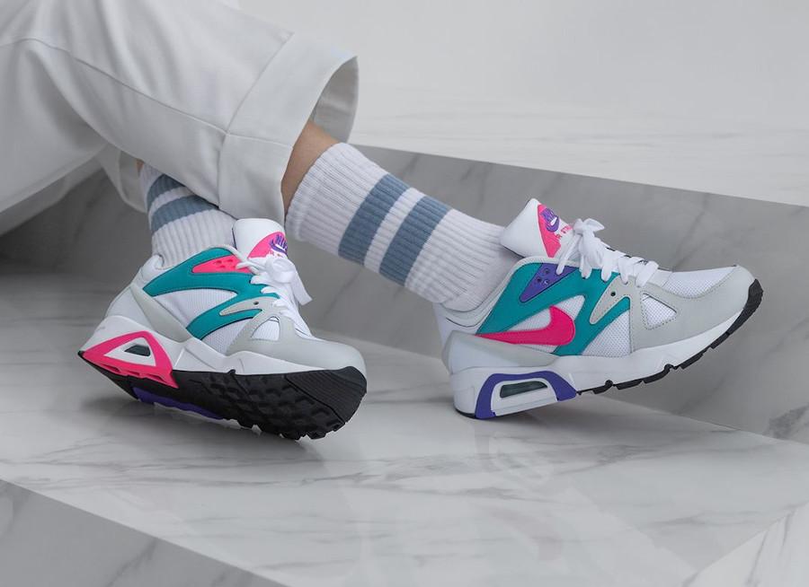 Nike Air Structure OG femme blanche rose et turquoise (4)