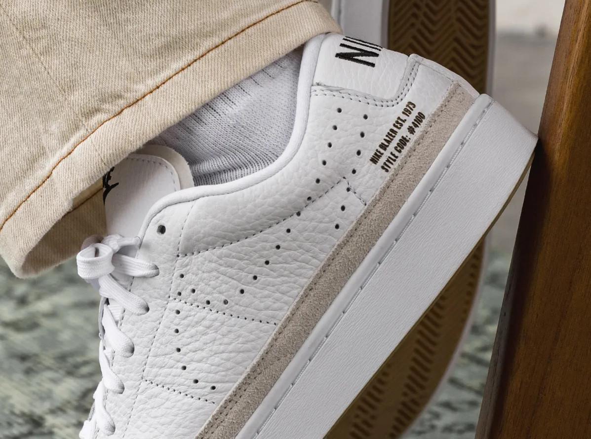 Nike Blazer Lo X blanche et gomme (1)