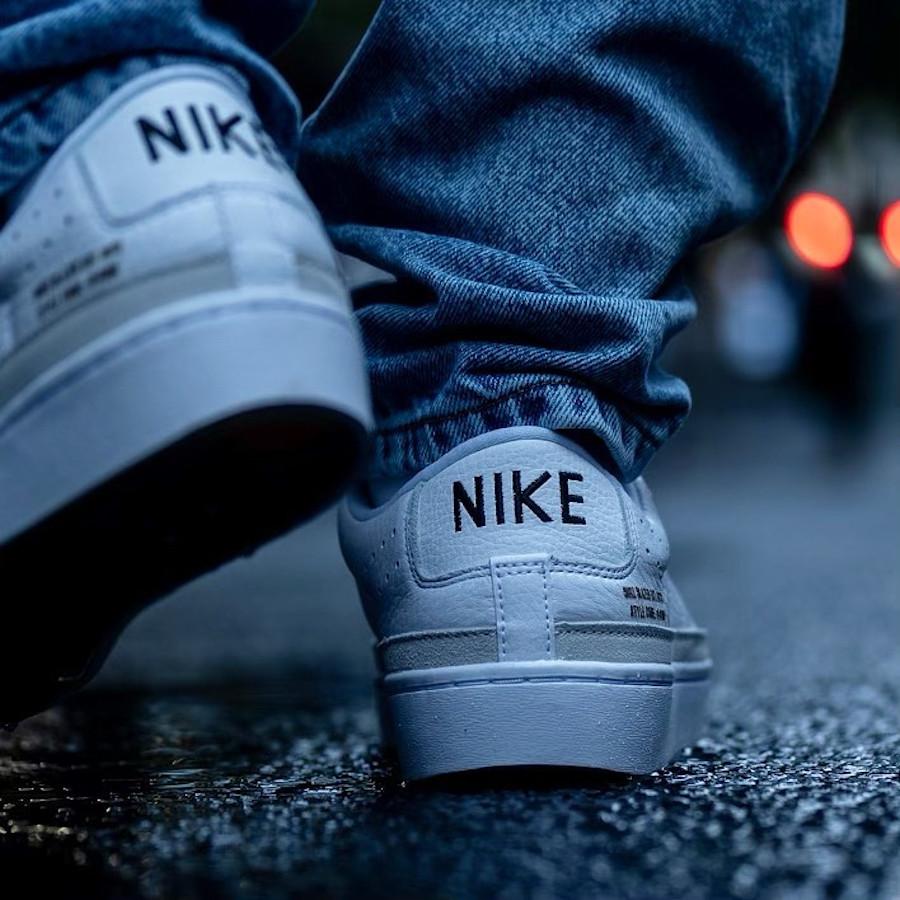 Nike Blazer Lo X blanche et gomme (2)