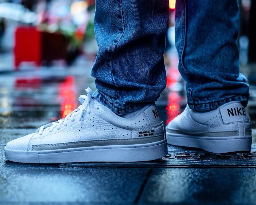 Nike Blazer Lo X blanche et gomme (3)