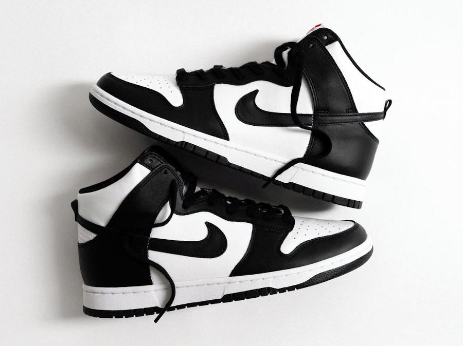 Nike Dunk Hi blanche et noire (1)