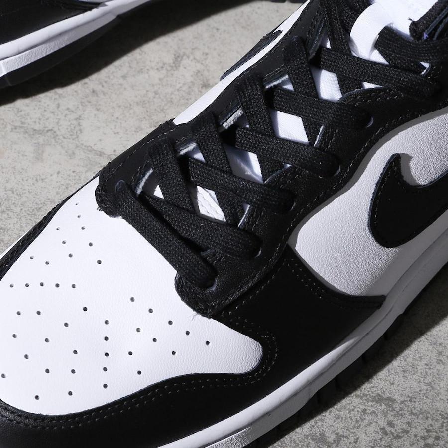Nike Dunk Hi blanche et noire (2)