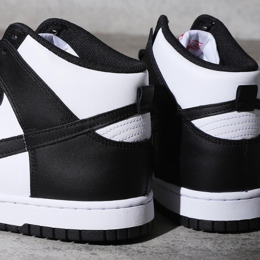 Nike Dunk Hi blanche et noire (3)
