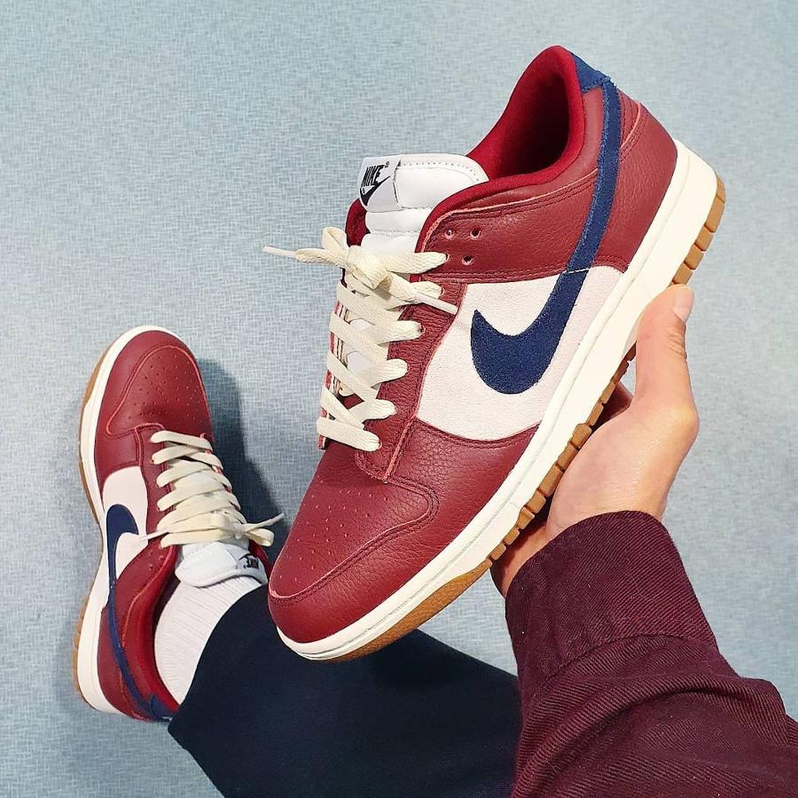 Nike Dunk Low By You Burgundy djamesandrew