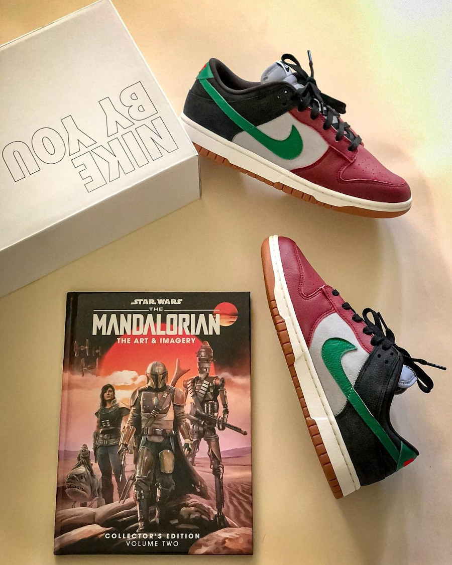 Nike Dunk Low By You Mandalorian jstar_thedreamer
