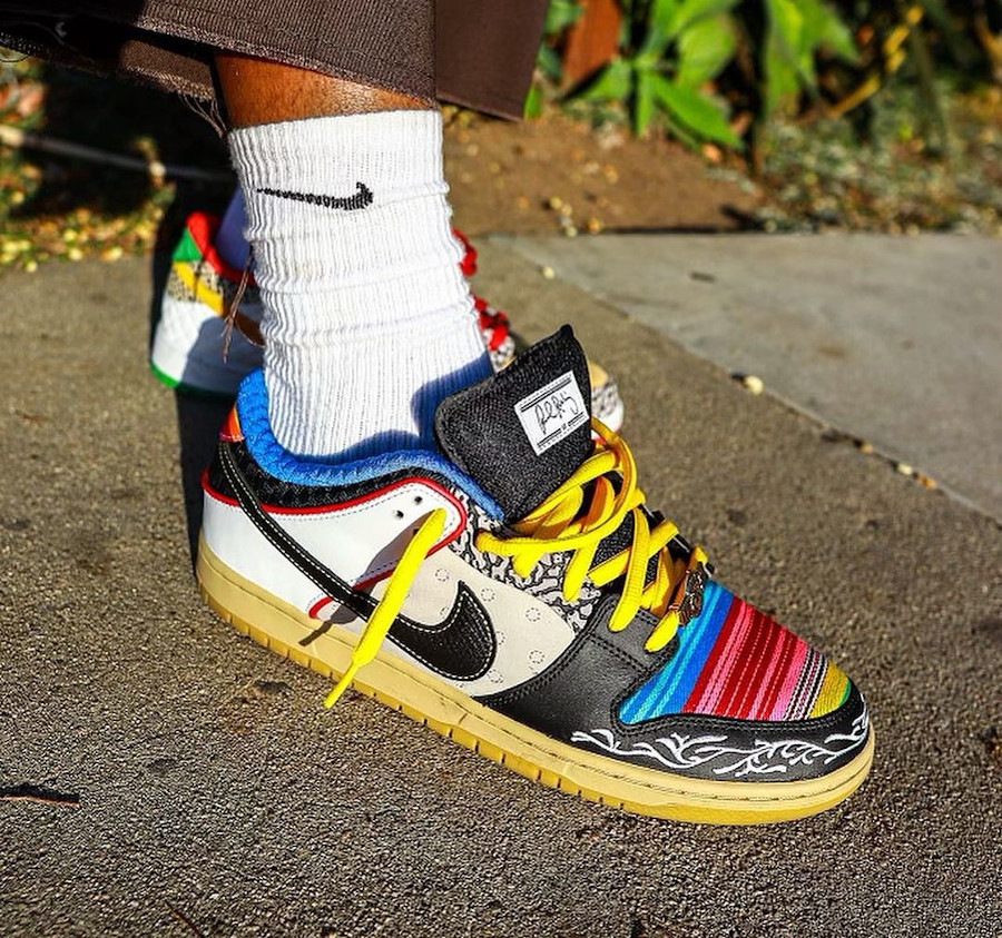 Nike Dunk Low Pro SB What The Paul on feet (2)