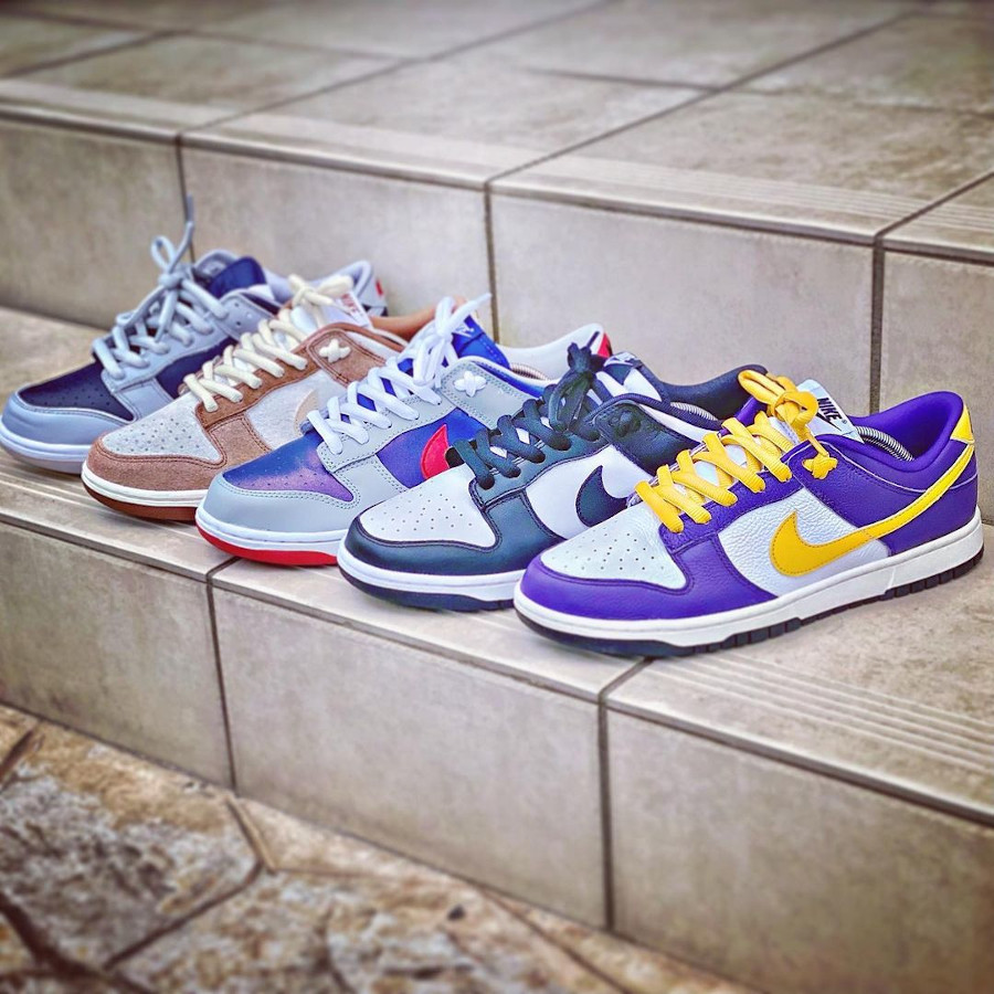 Nike Dunk Low by you LA Lakers - @nok_icks