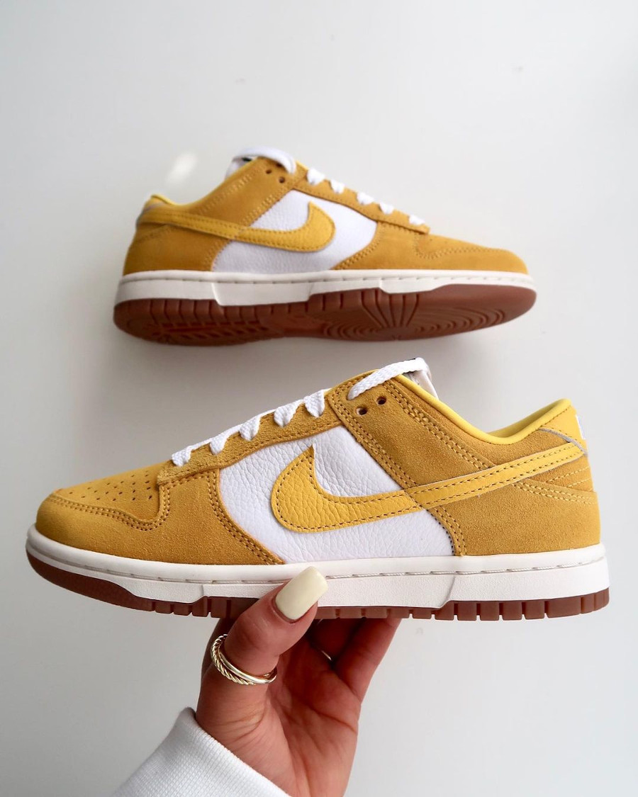 Nike Dunk Low Suede by you Mustard kympham_