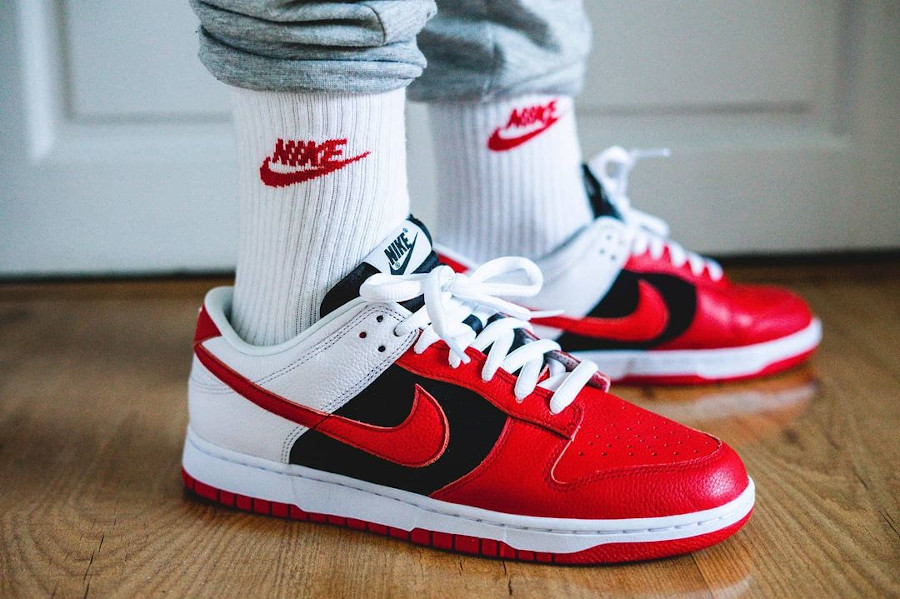 Nike Dunk Low by you on feet rom80