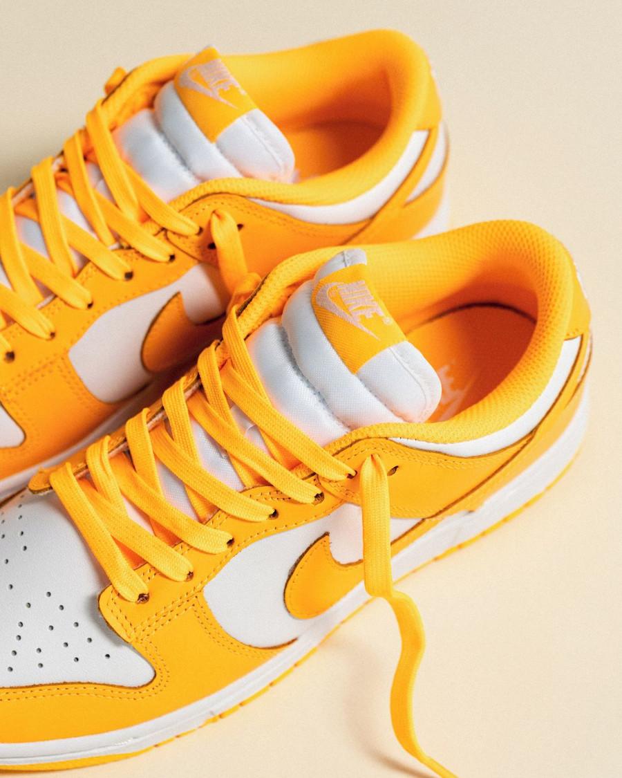 Nike Dunk Low jaune vif pour fille (3)