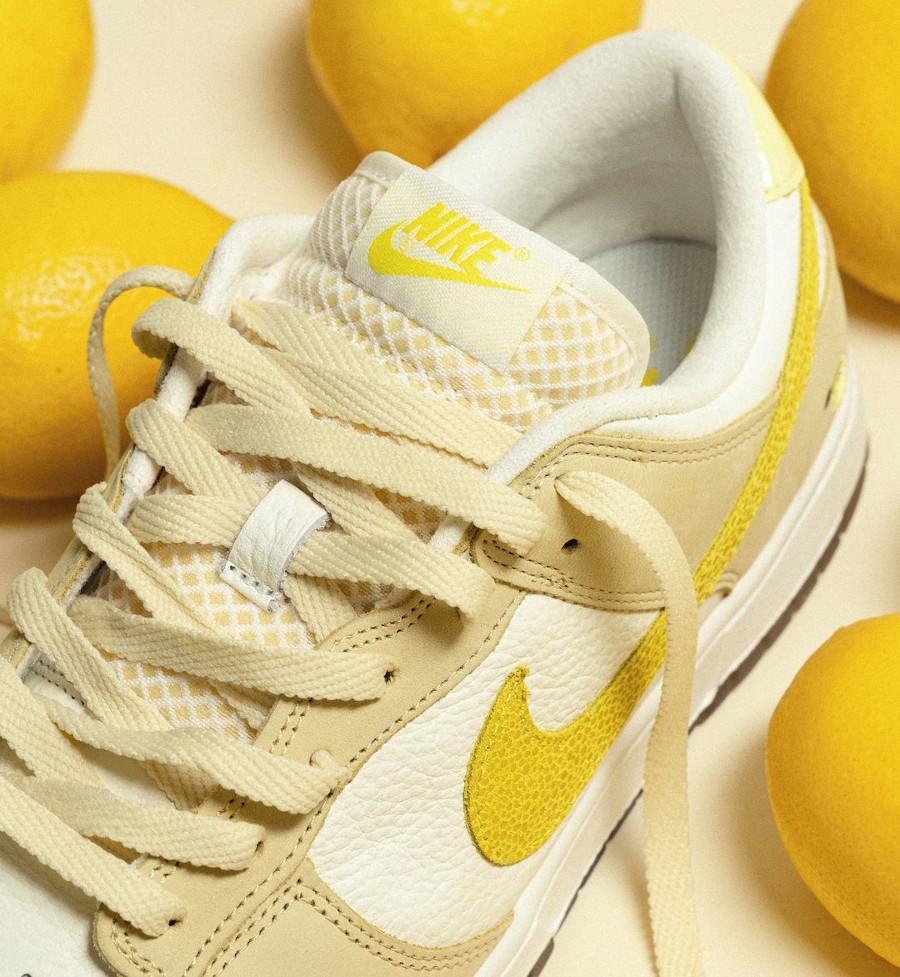 Nike Dunk low en suède jaune pastel 2021 (2)