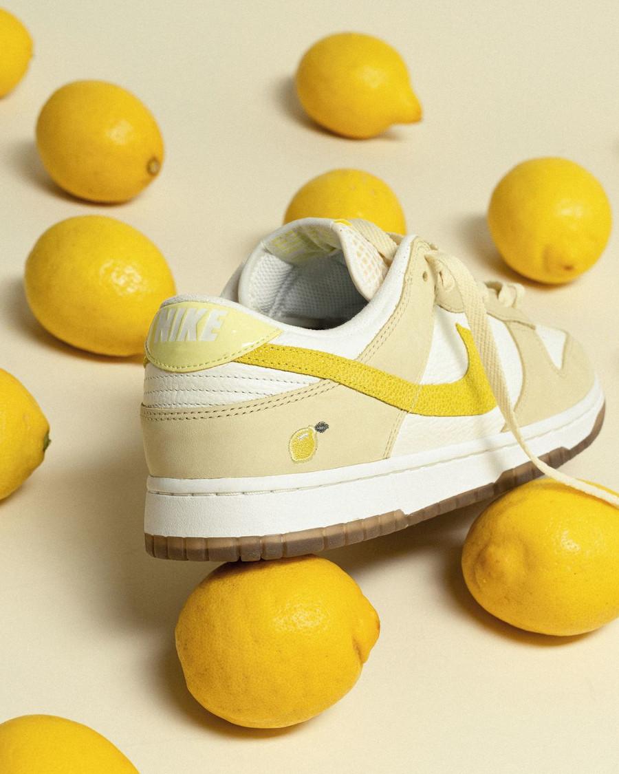 Nike Dunk low en suède jaune pastel 2021 (3)