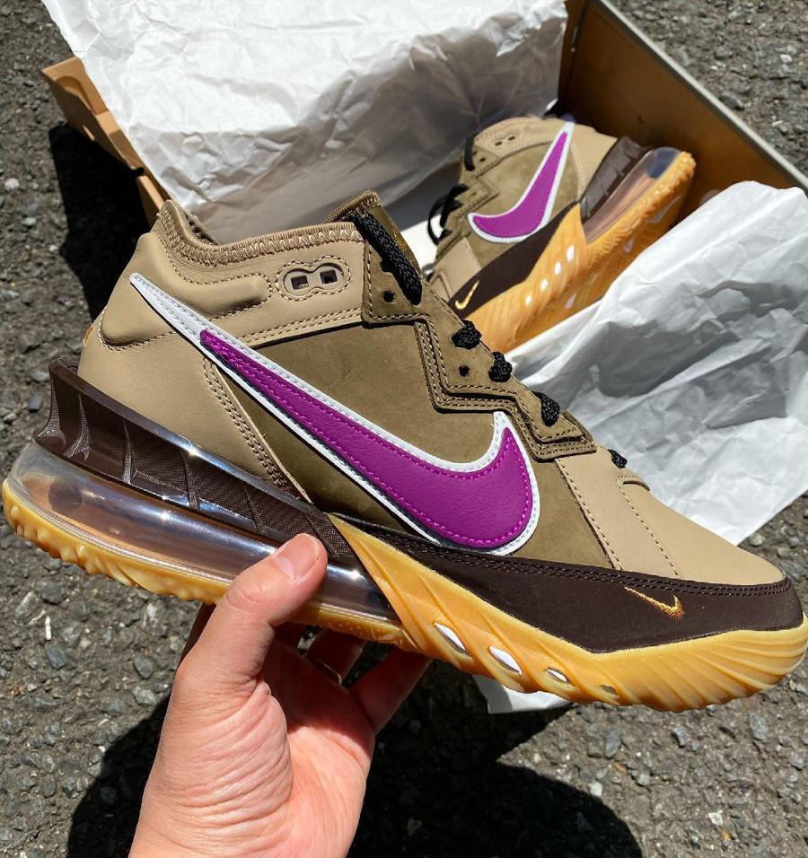 Nike Lebron 18 Low Dark Mocha Khaki Metallic Gold (1)