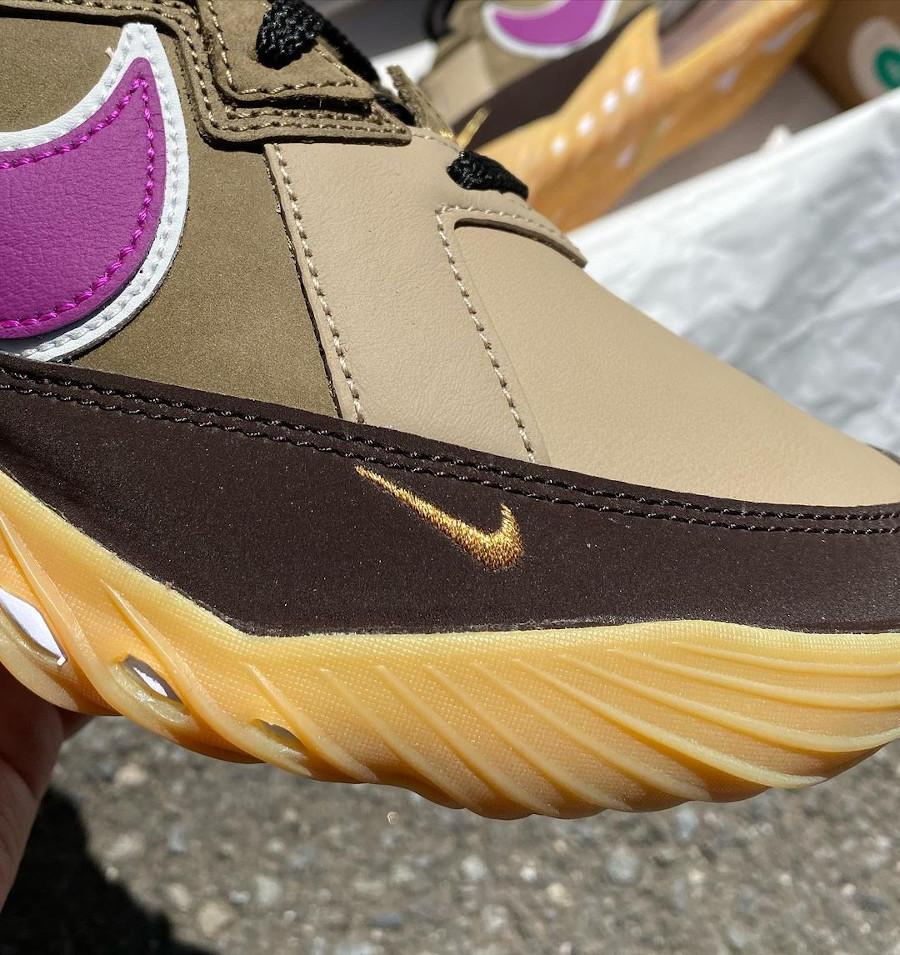 Nike Lebron 18 Low Dark Mocha Khaki Metallic Gold (3)