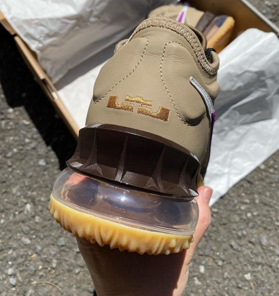 Nike Lebron 18 Low Dark Mocha Khaki Metallic Gold (4)