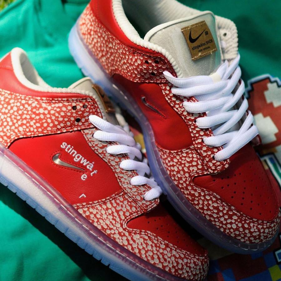 Nike SB dunk Low champignon rouge et blanche (2)