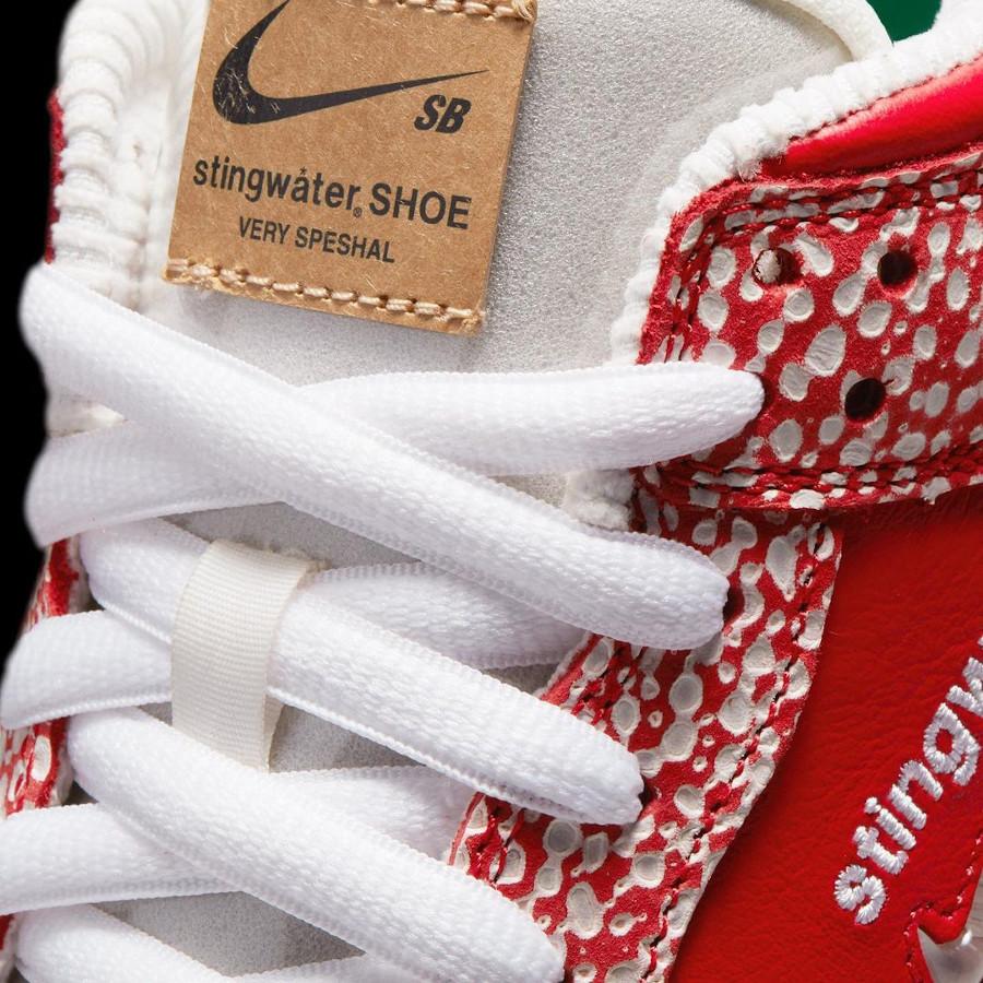 Nike SB dunk Low champignon rouge et blanche (4)