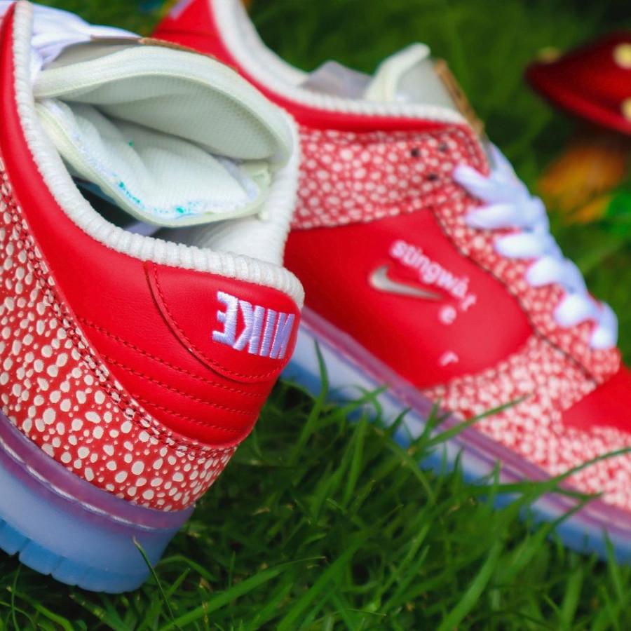 Nike SB dunk Low champignon rouge et blanche (5)